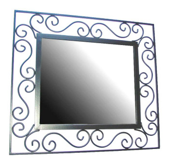 Scroll Metal Wall Mirror