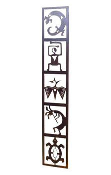 Petroglyph Totem Panel Metal Wall Art