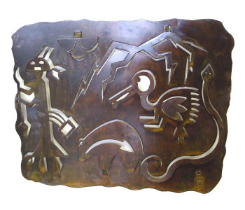Petroglyph D Metal Wall Art