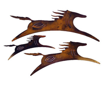 Spirit Horses Metal Wall Art, Set of 3