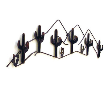 Cacti 6 Hook Metal Coat Rack