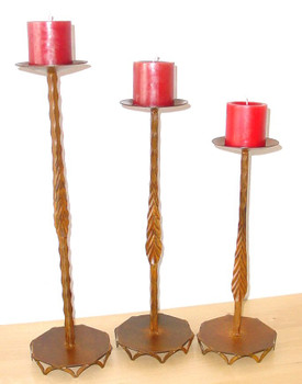 Hacienda Metal Candle Holders, Set of 3