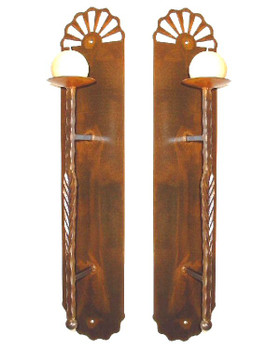 Casita Wall Metal Candle Holder Sconces, Set of 2