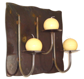 Rincon Panel Wall Metal Candle Holder for Three Candles