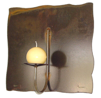 Rincon Panel Wall Metal Candle Holder for One Candle
