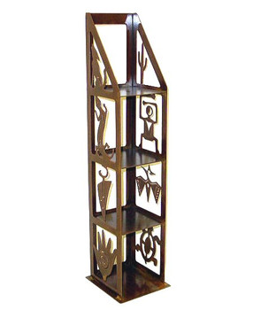 Petroglyph Metal DVD Rack