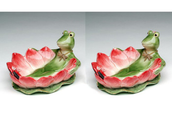 Frogalina Porcelain Dish, Set of 2