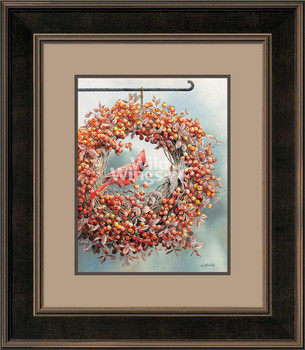 It's the Berries Cardinal Bird Framed Art Print Wall Art
