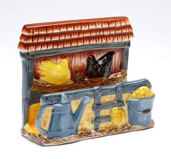 Rooster Porcelain Napkin Holder, Set of 2