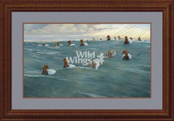 Heading Off Shore Canvasbacks Framed Limited Edition Art Print Wall Art