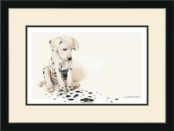 Gesundheit Dalmatian Puppy Framed Art Print Wall Art