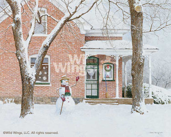 The Greeting Snowman Limited Edition Art Print Wall Art