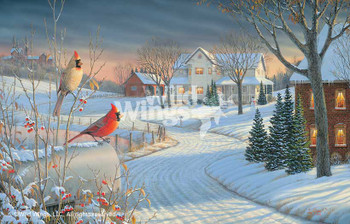 Country Afternoon Cardinal Birds Limited Edition Art Print Wall Art