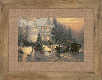 Victorian Christmas Framed Art Print Wall Art