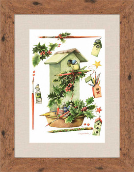 Home for the Holidays Framed Art Print Wall Art