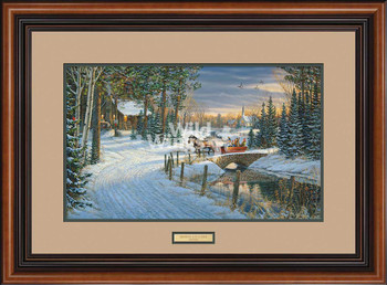 Holiday Sleigh Ride Limited Edition Framed Art Print Wall Art