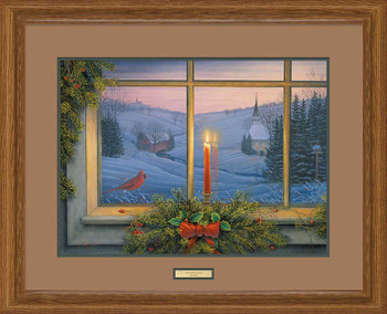 Christmas Candlelight Limited Edition Framed Art Print Wall Art