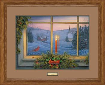 Christmas Candlelight Limited Edition Framed Art Print Wall Art