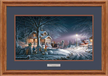 Winter Wonderland Oak Framed Art Print Wall Art