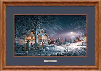 Winter Wonderland Oak Framed Art Print Wall Art