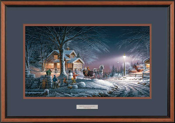 Winter Wonderland Walnut Framed Art Print Wall Art