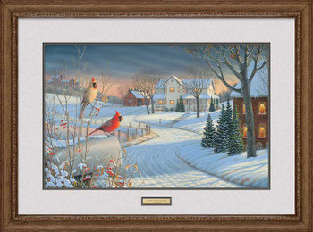 Country Afternoon Cardinal Birds Limited Edition Framed Art Print Wall Art