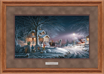 Winter Wonderland Deluxe Oak Framed Art Print Wall Art