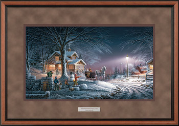 Winter Wonderland Deluxe Walnut Framed Art Print Wall Art