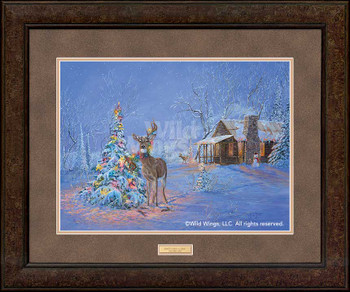 Oops! Once Upon a Time Deer Caught in Christmas Tree Premium Framed Art Print Wall Art