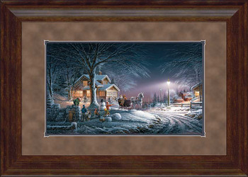 Winter Wonderland Fancy Framed Art Print Wall Art