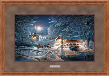 Evening Frost Elite Deluxe Oak Framed Art Print Wall Art