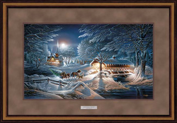 Evening Frost Elite Deluxe Walnut Framed Art Print Wall Art