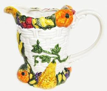 Harvest Fruits and Vegetables Pitcher