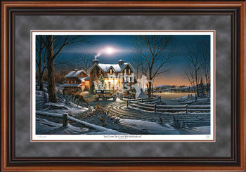 And Crown Thy Good with Brotherhood Limited Edition Walnut Framed Art Print Wall Art