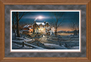 And Crown Thy Good with Brotherhood Limited Edition Oak Framed Art Print Wall Art