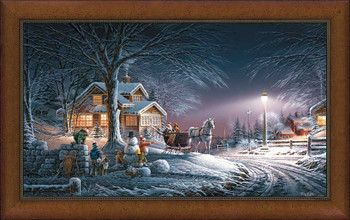 Winter Wonderland Framed Canvas Art Print Wall Art
