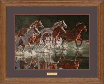 Wet Paints Forever Horses Premium Framed Art Print Wall Art