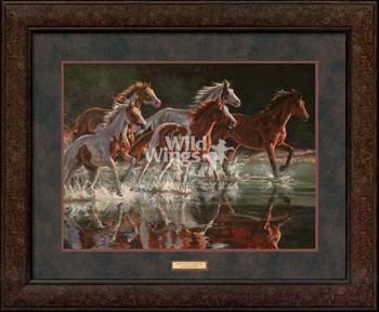 Wet Paints Forever Horses Premium Plus Framed Art Print Wall Art