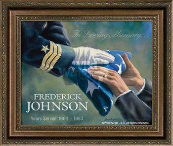 In Loving Memory… Navy Personalized Memorial Framed Canvas Art Print Wall Art