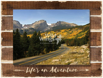 Life's an Adventure Wrapped Canvas Giclee Art Print Wall Art on Wood Pallet