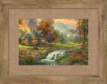 Mountain Retreat Framed Art Print Wall Art