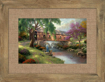 The Old Fishin Hole Framed Art Print Wall Art
