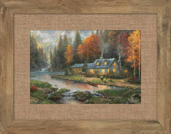 Evening at Autumn Lake Framed Art Print Wall Art