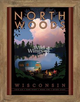 North Woods Wisconsin Framed Poster Art Print Wall Art