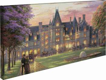 Elegant Evening at Biltmore Wrapped Canvas Giclee Art Print Wall Art