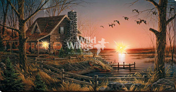 Comforts of Home Lakeside Cabin LED Lighted Wrapped Canvas Giclee Art Print Wall Art