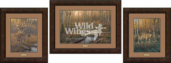 Border Wars Whitetail Deer Framed Limited Edition Art Print Wall Art