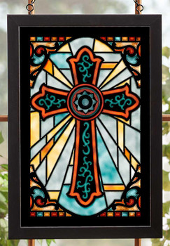 Cross Stained Glass Wall Art