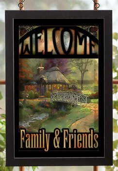 Welcome Family & Friends Stained Glass Wall Art