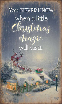 Christmas Magic Rustic Wood Sign